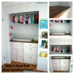 Built-in Closet Hack for Bubbles' Nursery (Using Closetmaid Pieces)