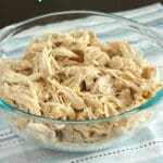 Make your meal prep or weekday night dinners even easier with this super-easy slow cooker shredded chicken. Perfect for your Crockpot or Instant Pot, it's great make it in advance or freeze for future meals in a pinch.