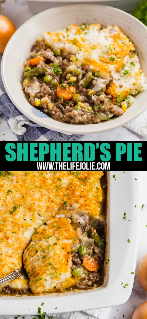 This is the best Shepherd's Pie recipe! It's so easy to make and comes together prettyquickly as well. It's a super simple mix of beef, vegetables and mashed potatoes that is sure to please the whole family!