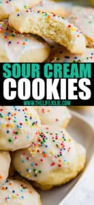 Meet your new favorite cookie recipe! This Sour Cream Cookies recipe is a family favorite. With a delicious cake-like texture, you've got an addictive cookie that isn't overly sweet.