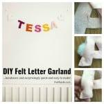 DIY Felt Letter Garland