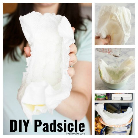 This awesome DIY Padsicle will make mom's postpartum recovery a bit more comfortable. It's super easy and quick to make and then you just pop it into the freezer!