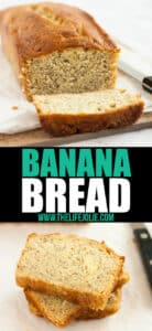 Transport yourself back to your childhood with warm, delicious banana bread, like my Grandma used to make. With just a few simple ingredients, this easy banana bread recipe will become a family staple!