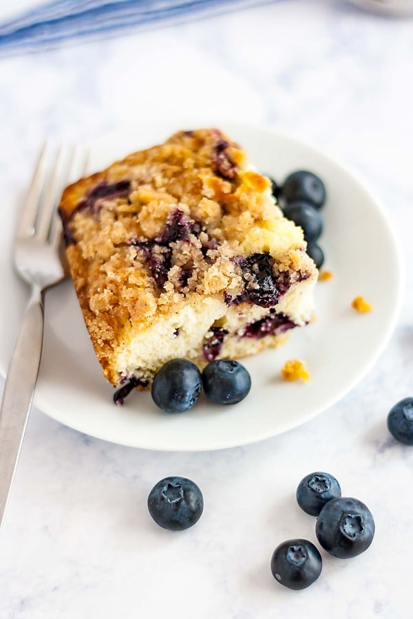 A delicious piece of Blueberry Buckle.