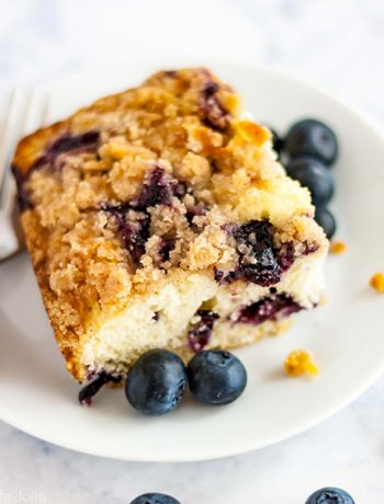 A square shot of Blueberry Buckle.