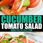 This cucumber tomato salad is perfectly versatile side for everything from casseroles to BBQ. Refreshing and delicious, this zesty (and slightly spicy) tomato salad is a bite of summer all year long.