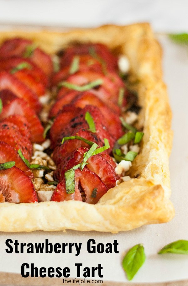 The Strawberry Goat Cheese Tart recipe is great for a brunch or a low ...