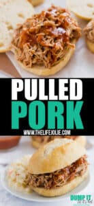 Just 3 ingredients and barely any work make this Pulled Pork recipe one of my favorite easy dinners. You will not be able to stop eating this fall-apart-tender meat!