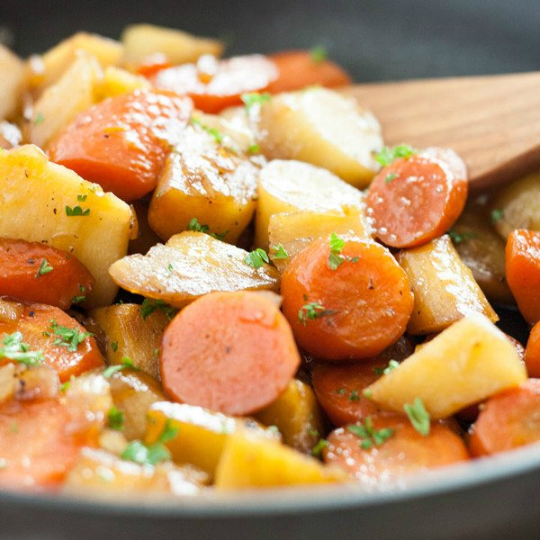 This Honey Soy Glazed Carrots and Parsnips recipe is a delicious and healthy side dish. It comes together really quickly and is very easy to make. The soy sauce and honey create a glaze with the perfect sweet and savory flavor combo. This is the ideal holiday side dish, perfect for any Christmas or thanksgiving table! Click on the photo to get the recipe!