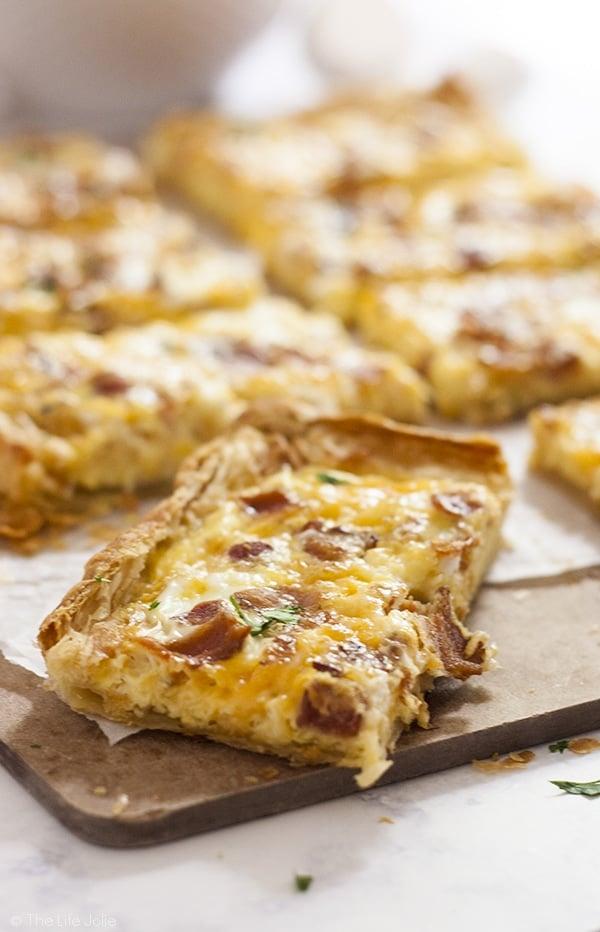 Puff Pastry Breakfast Pizza Recipe