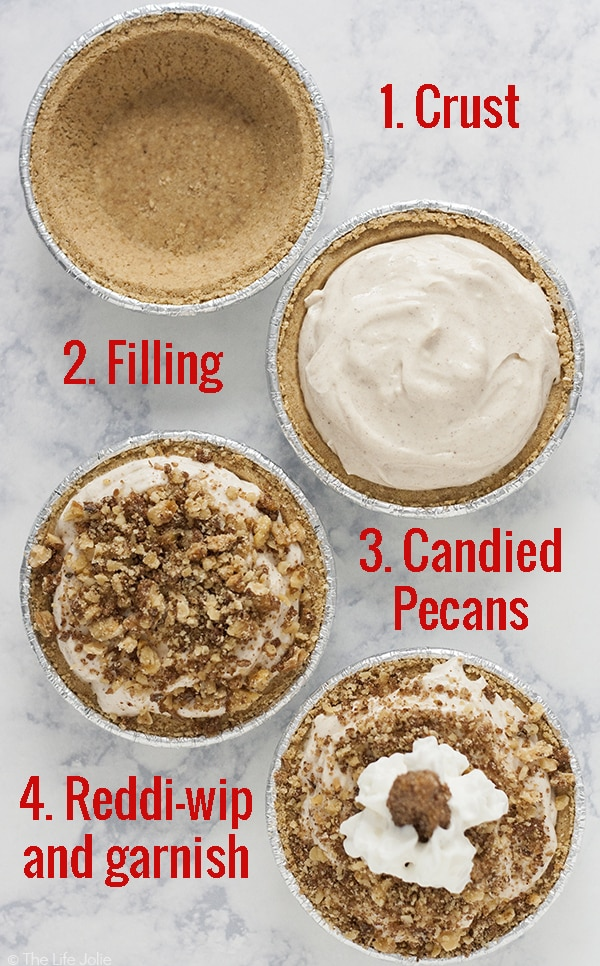 No bake pumpkin cheesecake mini pies this no bake pumpkin cheesecake mini pies recipe is such an easy fall dessert option forumfinder Image collections