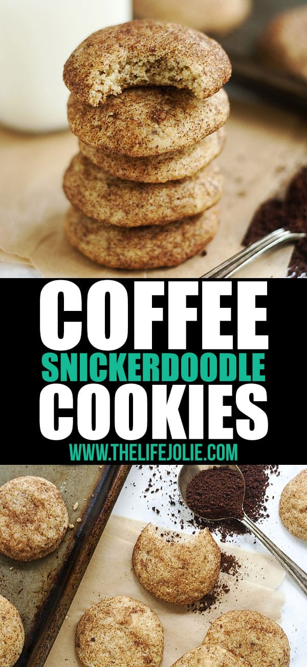 This Coffee Snickerdoodles recipe is a delicious and easy twist on traditional Snickerdoodle cookies. Soft and chewy with the spicy-sweet flavors of cinnamon and sugar with the zing of coffee, these are a delicious addition to any holiday cookie platter and simple enough to make without needing a special occasion!
