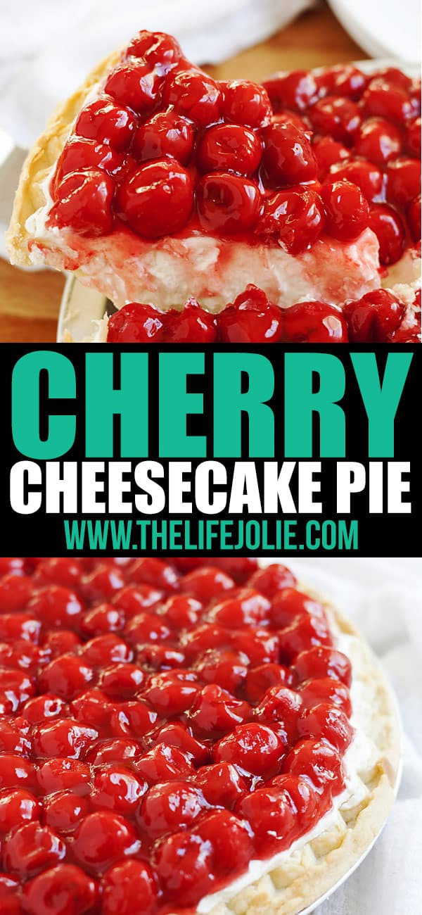 Rosie's Award Winning Cherry Cheesecake Pie is a favorite family recipe- it is insanely easy and heavy cream, cream cheese, vanilla, confectioner's sugar and cherries make up the minimal ingredients. It looks gorgeous on any dessert tables, especially for the holidays and could not be more delicious! Get in the kitchen and make this now!