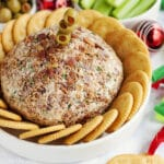 This Bloody Mary Cheeseball Recipe is the best easy appetizer option for entertaining. Made with many of the same ingredients and toppings as a traditional Bloody Mary drink (but without the alcohol). It's a family friendly hors d'oeuvre that's full of great flavor!