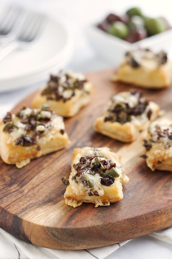 This Olive And Gruyere Puff Pastry Tartlets Recipe Is One Of My New Favorite Easy Appetizers