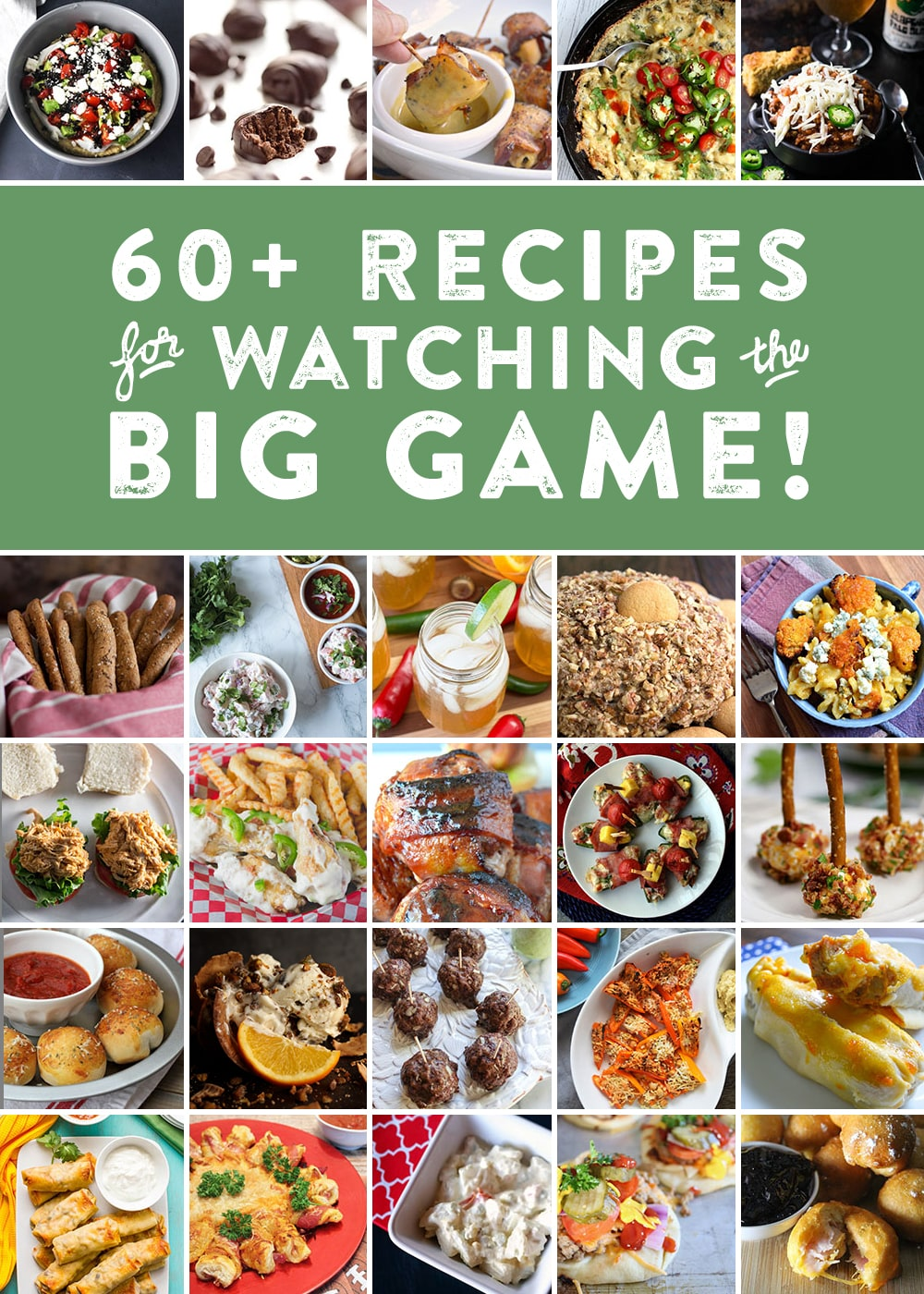 I've teamed up with my football blogger friends in one final collaboration to bring you some brilliant Big Game recipe ideas. We've made appetizers, entrees, desserts and even drinks. Prepare to be inspired, and be sure to check out their links by clicking on the photo!
