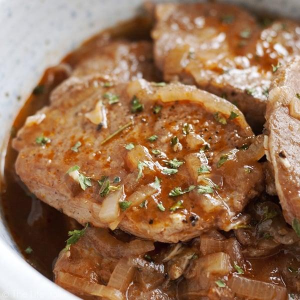 drunken stove top pork chops  a super easy delicious dinner