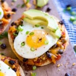 Super Easy Baked Breakfast Tostadas