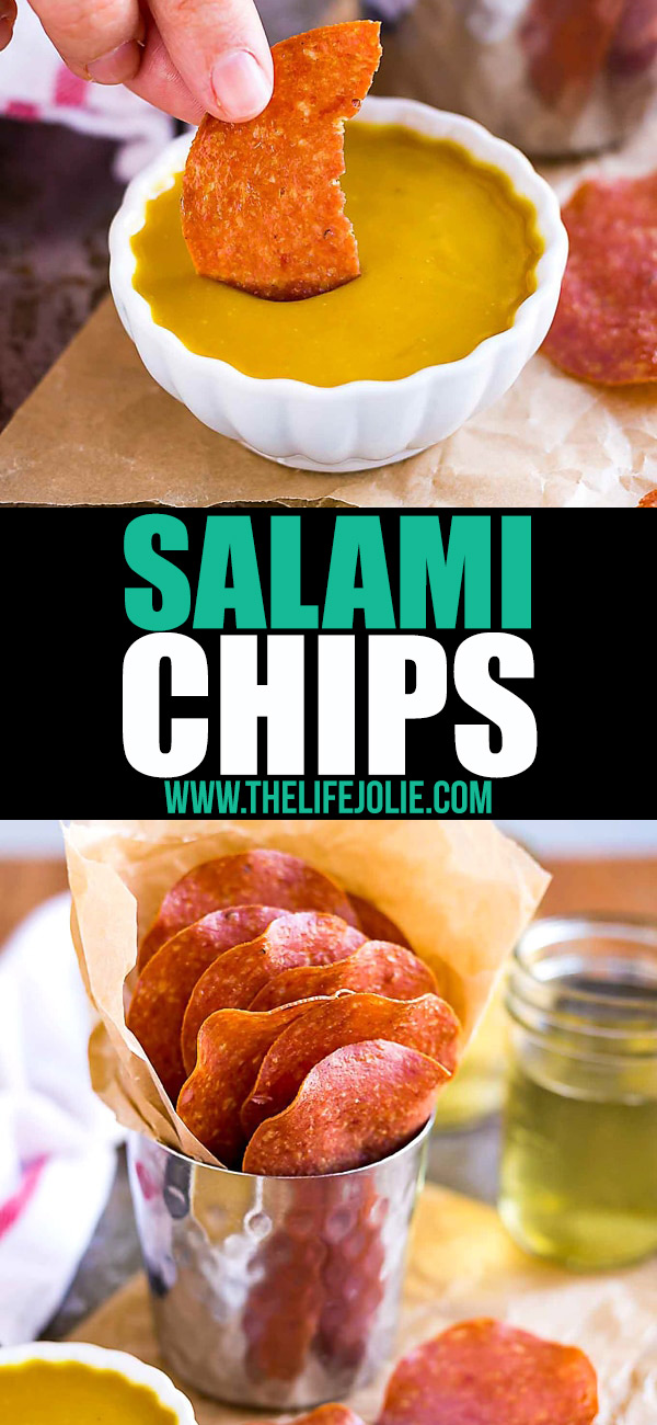 These Salami Chips are killer party snack and taste even better with a Honey Mustard dipping sauce. You won't believehow easy they are to make!