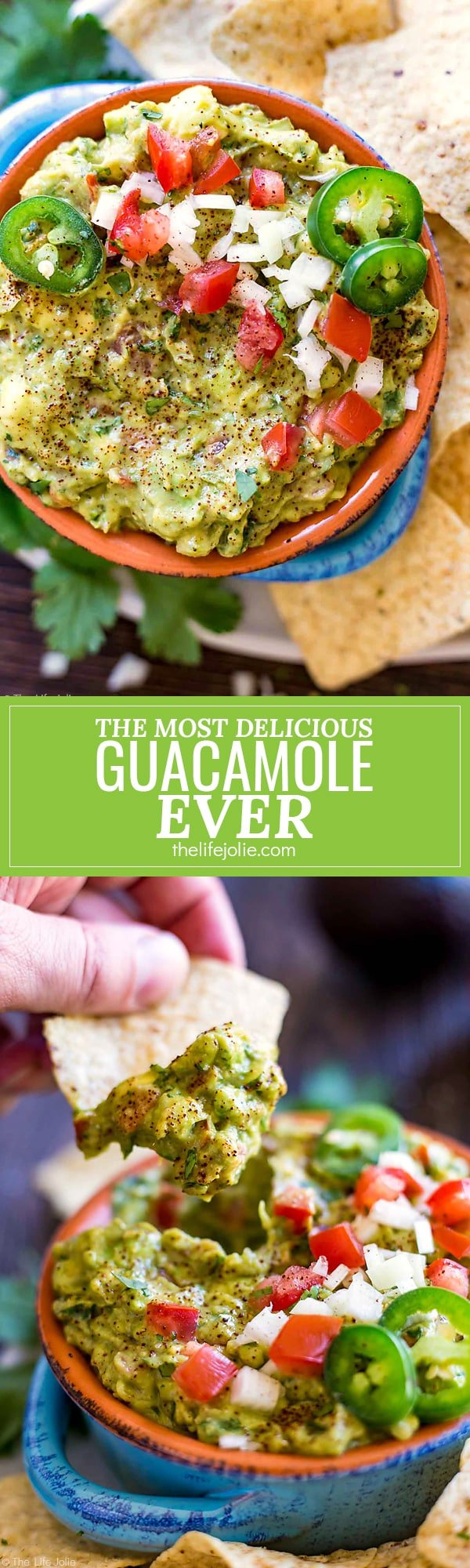 It's always a good idea to have an easy guacamole recipe up your sleeve and this one is seriously the best- fantastic, zesty flavor with an awesome secret ingredient to helps take the guacamole to the next level. It's a healthy snack for a Cinco de Mayo celebration or game day!