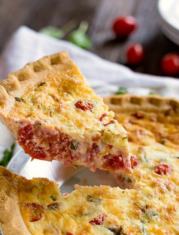 Caprese Quiche is an easy breakfast or brunch recipe. This is simple, feel-good food at it's finest with mouthwatering tomatoes, mozzarella and basil. It's great to make ahead or eat right away and perfect to whip up for Easter, Mother's Day or Christmas Morning!