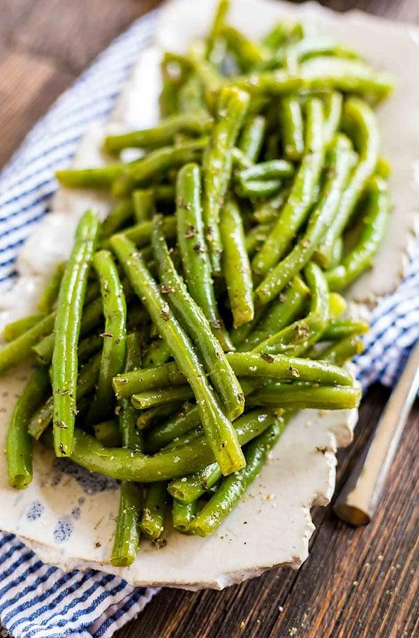 A delicious summer Green Bean Salad.