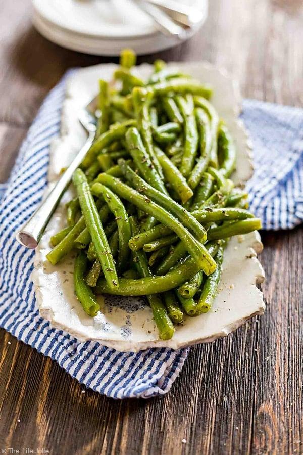 Green Bean Salad on a platter.