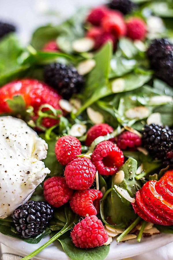 I love this Summer Berry and Burrata Salad.