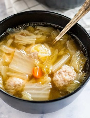 Square photo of Cabbage and Pork Meatball Soup