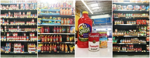 Images of Campbells products at Walmart