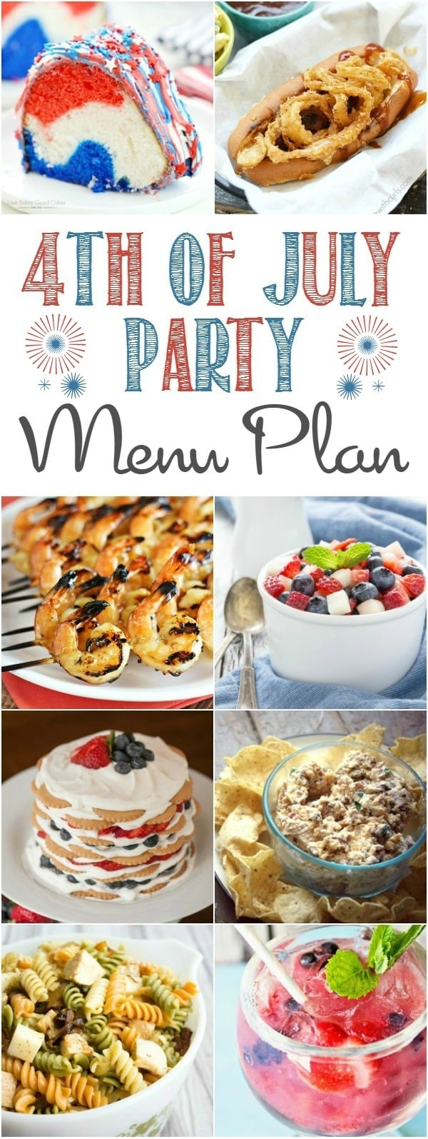 Check out this 4th of July Party Menu Plan- there are so many delicious options for your Independence Day picnic!