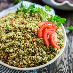 A square image of the Easiest Ever Tabouli.