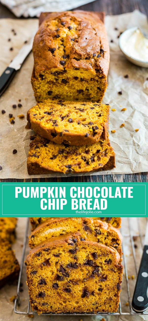 There is nothing better than a homemade recipe from grandma and this easy Pumpkin Chocolate Chip Bread is the perfect way to get in the mood for fall! It's the best simple recipe to make from scratch if you want a perfectly moist and delicious baked treat to enjoy with family!