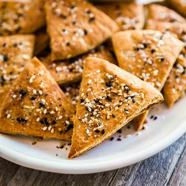 A square image of Everything Pita Chips