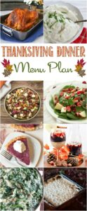 Check out this awesome Easy Thanksgiving Dinner Meal Plan plan full of fantastic recipes from your favorite bloggers!
