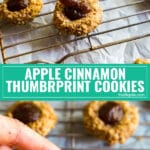 This Apple Cinnamon Thumbprint Cookies recipe is an easy variation of a classic thumbprint cookie. Made with nuts and filled with apple butter, these have the same great flavors of an all-American apple pie and are great cookies to give to the ones you love (great Christmas cookies!). AD