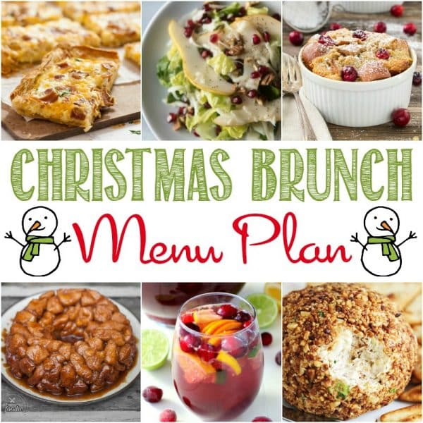A square image of the recipes in the Stress-free Christmas Brunch Menu Plan.