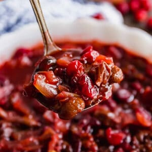 Homemade Cranberry Sauce with Dried Cherries and Shallots Recipe