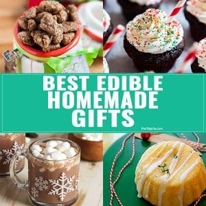 Check out this list of the Best Homemade Edible Gifts for the holidays. This is full of easy sweet and savory ideas you can DIY this Christmas!