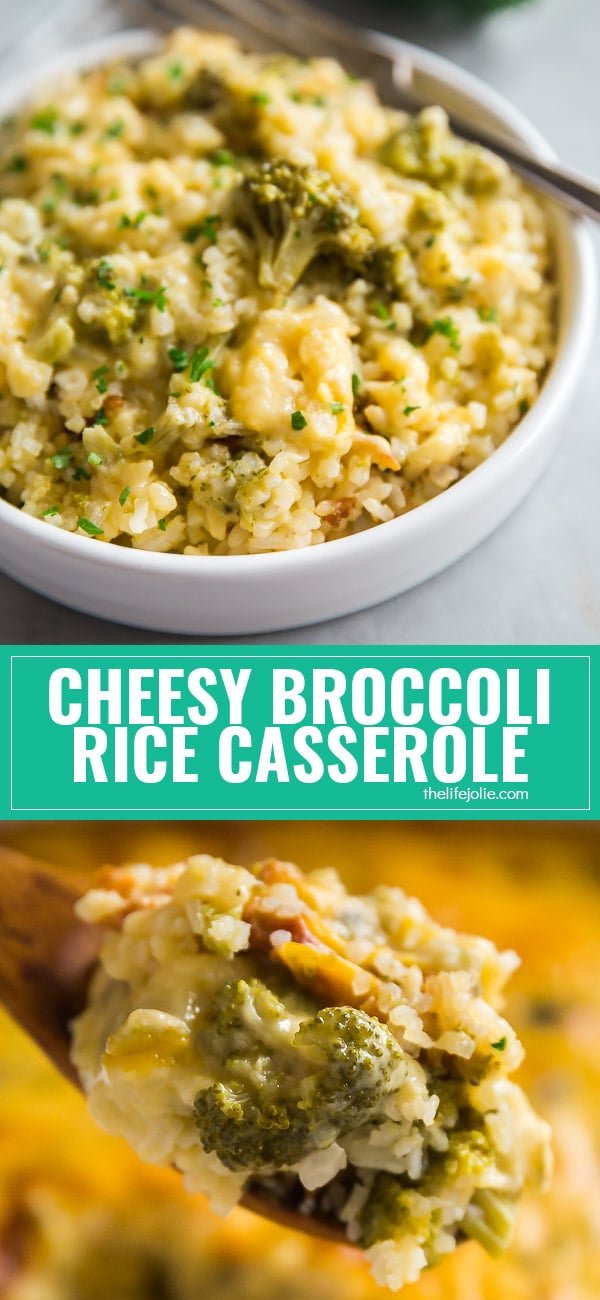 Cheesy Broccoli Rice Casserole is an easy and cozy recipe the whole family will love. This easy recipe is perfect for a potluck and is also super kid-friendly!