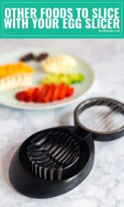 Did you know that eggs aren't the only thing you can slice with your egg slicer? Here are some great ideas of other things you can slice with this gadget. Gotta love a good kitchen hack!
