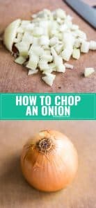 I want to show you how to chop an onion the easy way! Check out this tutorial with tons of great tips for getting the perfect chopped onions.