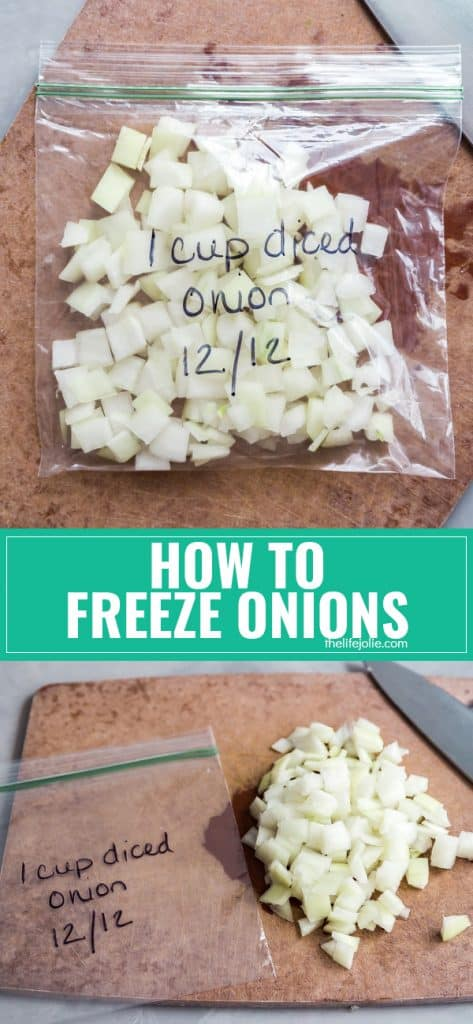 Do you ever end up with leftover chopped onions that ultimately get thrown out? Well no need to waste anymore chopped onions because I'm going to tell you about how to freeze onions!