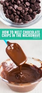 Melting chocolate can be tricky but I'm going to show you a few simple steps for how to melt chocolate chips in the microwave without all the hassle of a double boiler!
