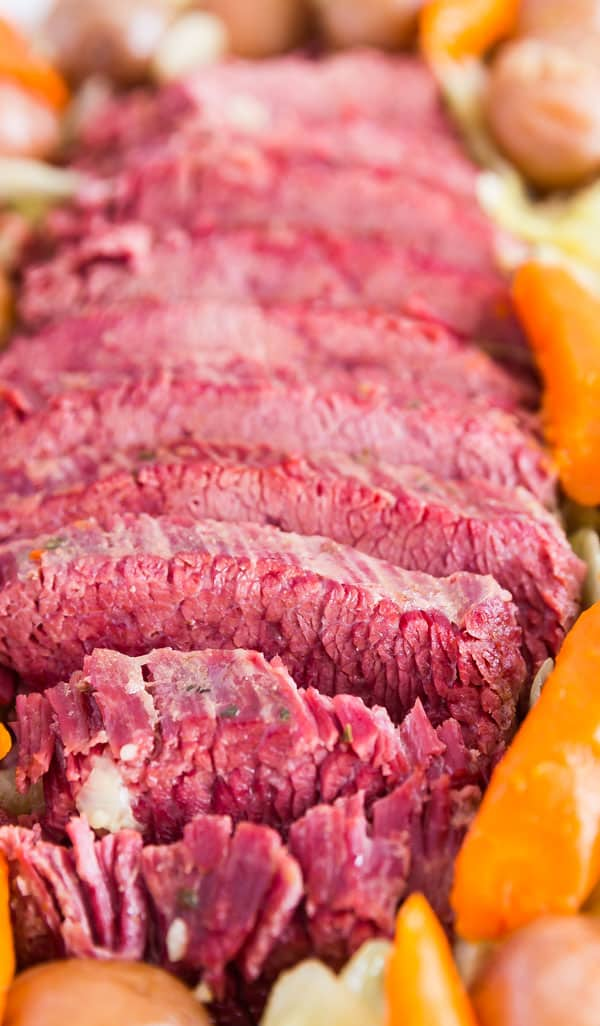 A close up image of Easy Corned Beef.