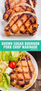This Brown Sugar Bourbon Pork Chop Marinade is the stuff that all your summer grilling dreams are made of! A little sweet. A little boozy (don't worry, it cooks off!). And a whole lot of delicious!
