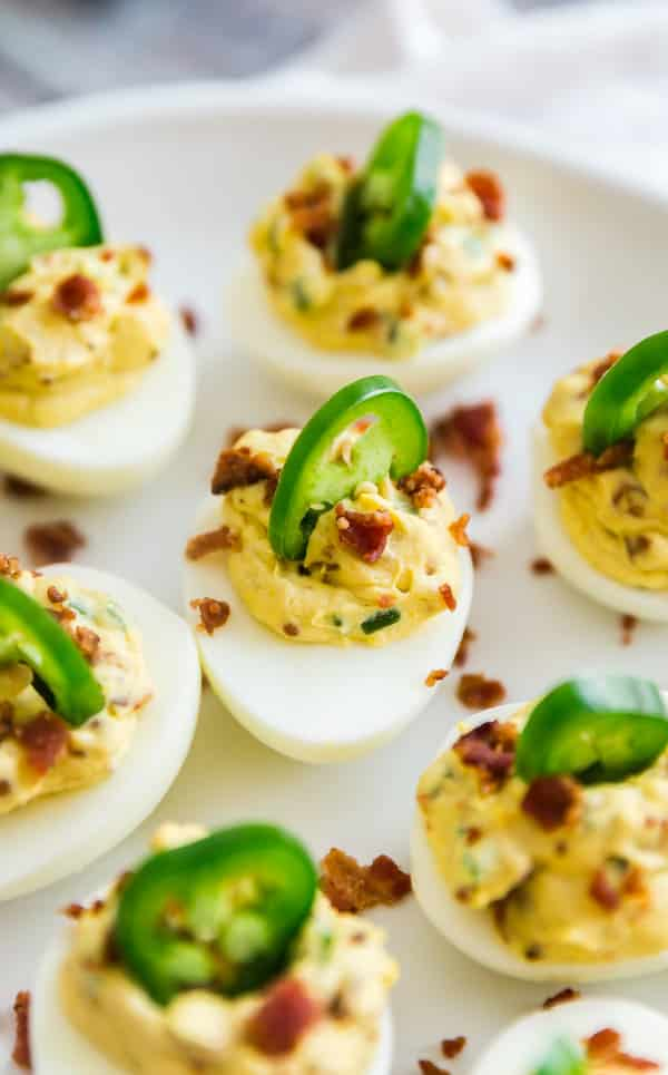 Jalapeno poppers combined with Simple Deviled Eggs