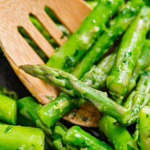 Sautéed Asparagus with Parmesan Gremolata
