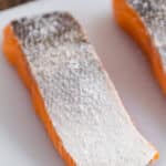 Salmon with salt