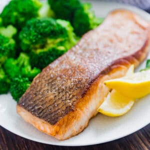 There is nothing better than perfectly seared salmon and I'm going to show you how to get it just right! It's so easy to pan sear fish and I'm sharing all my tips and tricks to get that nice crispy outside and skin and perfectly tender inside.
